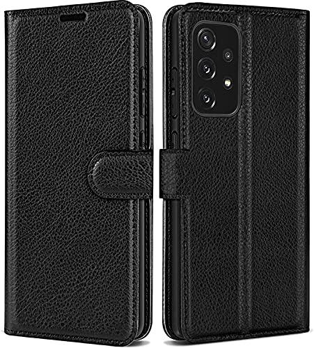 Funda de teléfono móvil compatible con Samsung Galaxy A52, funda de piel sintética con tapa magnética, funda de piel sintética con tarjetero para Galaxy A52 5G/4G de 6,5 pulgadas