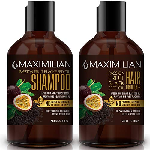 (60% OFF Coupon) Maximilian Passion Fruit Black Seed Oil Curly Hair Shampoo and Conditioner Set $11.96