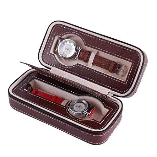 XXCHUIJU Watch Box Organizer/Men Watch Pantalla Funda de Almacenamiento Se Adapta a Todos los Relojes de Pulsera y Smart con un Bolsillo Adicional para la Banda de Reloj B (Color : A)