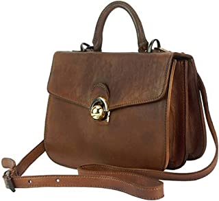 FLORENCE LEATHER MARKET Borsa a mano con tracolla in pelle donna 27x5x9.5 cm - Very - Made in Italy