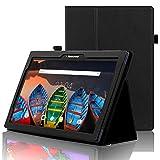 ACdream Lenovo Tab 2 A10 und Lenovo Tab3 10 Business Hülle, Folio Leder Cover Hülle für Lenovo Tab2 A10-70 / Tab2 A10-30 / TAB-X103F Tab 10 / Tab3 10 Business Tablet, Schwarz