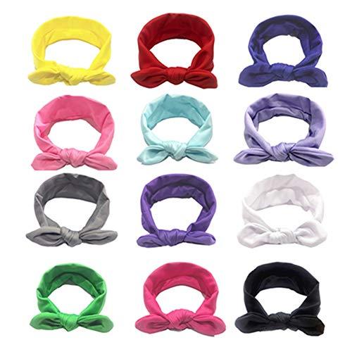 Egurs Diademas para bebé, 13 unidades, coloridas, para recién nacidos, con estampado turbante impreso, para niños y niñas de 0 a 3 meses