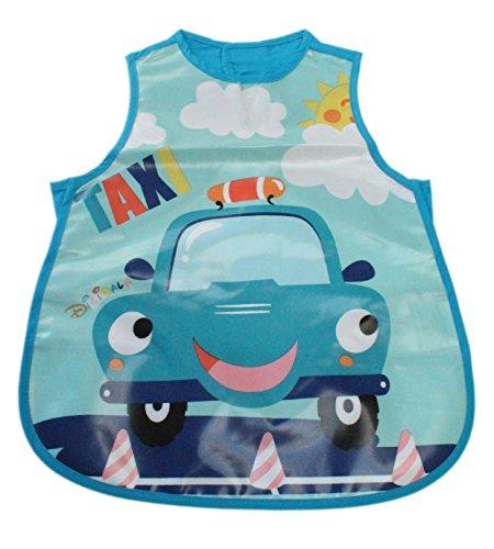 Dilidala Delantal para bebé y niña de TPU para cocinar y hacer manualidades (L-2-4 años, taxi)