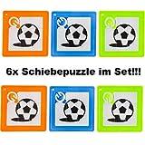Lg-Imports 6X Mini Schiebepuzzle Kinder Puzzle Spiel Geduldspiel Mitgebsel Geburtstag Fußball