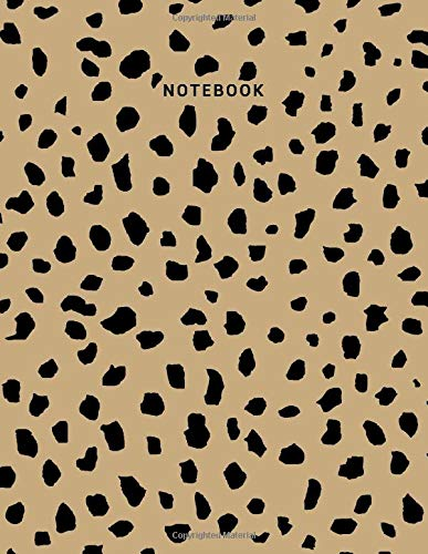 Notebook: Leopard Print Composition Notebook - College Ruled 110 Pages - Large 8.5 x 11