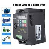 Convertitore Frequenza Inverter VFD,AC 220V,1,5KW Monofase Controllo PWM,Interfaccia Comunicazione RS-485 Integrata Trasformatore Velocità Controllato Variatore Frequenza Inverter