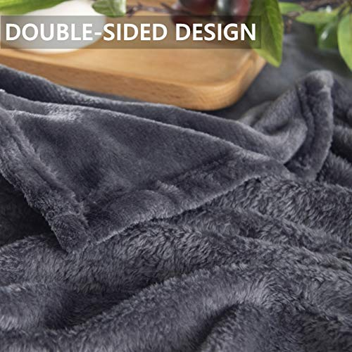 Sofadecken dunkelgrau 150 × 200 cm, R...