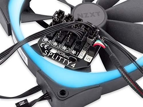 Aqua Computer RGBpx Splitty4 Lüfter-Splitter