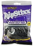 "Pride Golf Tee 2-3/4"" Way Long RIPSTIXX Golf Tee (65 Count), Black"