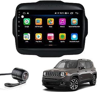 "Multimídia Jeep Renegade Sport 2015 2016 2017 2018 2019 Aikon Atom Basic Two Tela 9"" Quad Core 2GB Android Gps Câmera de r..."