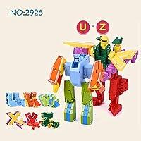 15 個組立ビルディングブロック知育玩具アクションフィギュア変態番号ロボット変形ロボット玩具子供のため