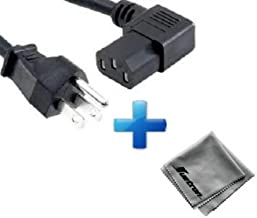 Printek FormsPro 4503 Printer Compatible New 15-foot Right Angled Power Cord Cable (C13/5-15P) Plus Huetron Microfiber Cleaning Cloth