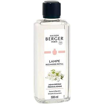 Precious Jasmine - Lampe Berger Fragrance Refill for Home Fragrance Oil Diffuser - 16.9 Fluid Ounces - 500 milliliters
