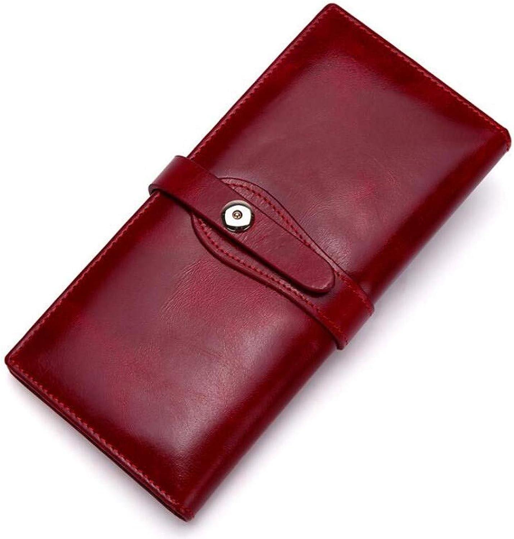 Surnoy Vintage Damenbrieftasche,europäisches Damenbrieftasche,europäisches Damenbrieftasche,europäisches und amerikanisches langes Leder,Mehrfach-Lederbrieftasche mit großer Kapazität,Sekundäre faltende Mehrkartenposition,des B07K5PCWSL 77802c