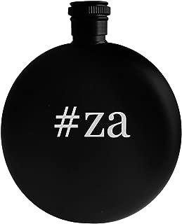 #za - 5oz Hashtag Round Alcohol Drinking Flask, Black