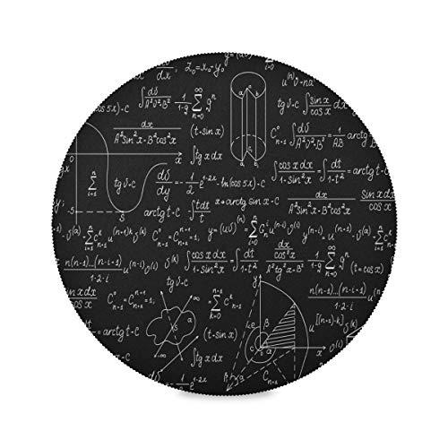 Plsdx Ensemble de 4 Tapis de Table de Bar à café Rond Math Education Complicated Mathematical Genius Table Set de Table Set de Sets de Table imprimés 15,4 Pouces faciles à Nettoyer pour la Cuisine
