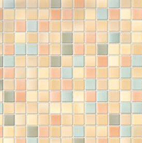 AS4HOME Klebefolie - Möbelfolie Mosaik Pienza Dekorfolie 67 cm x 200 cm Selbstklebende Folie mit Dekor - Selbstklebefolie