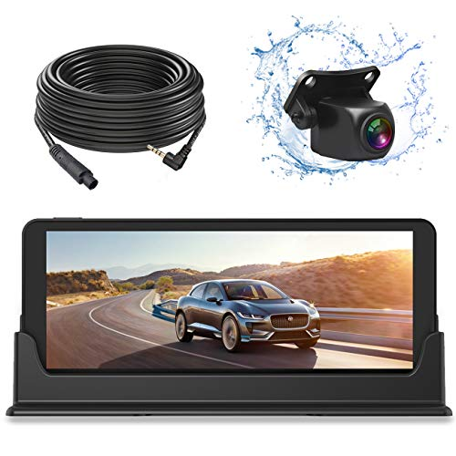 1080P Backup Camera and Monitor Kit 7 inch HD Widescreen for Car SUV with 49ft Long Wired Rear Camera with Parking Guideline
