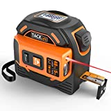 Laser Tape Measure 2-in-1, Laser Measure 131 Ft, Tape Measure 16 Ft Metric and Inches with LCD Digital...