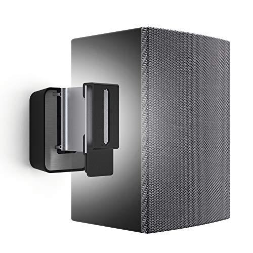 Vogel's SOUND 3200 Soporte de pared universal para altavoces, Máx. 5 kg, Inclinable -30º / + 30º, Girar hasta 70º, También adecuado para Denon Home 150, Negro