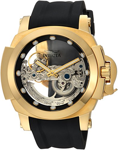 Invicta Men's Coalition Forces Stainless Steel Automatic-self-Wind Watch with Silicone Strap, Black, 25 (Model: 24708)