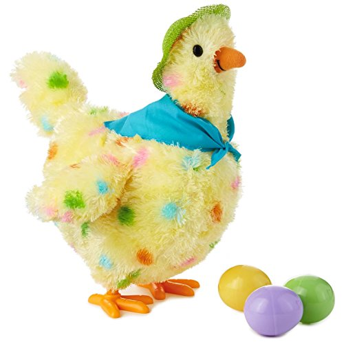 "Squawkin' Egg Droppin' Mama Hen Interactive Stuffed Animal, 10"" Interactive Stuffed Animals Animals & Nature"