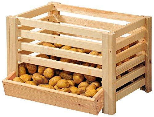 Kesper Kartoffelkiste mit Schublade Obsthorde Kartoffelhorde 60 x 43