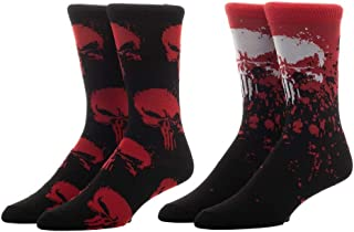 Marvel Superhero 2 Pack Red Calcetines para hombre, Negro, Talla Única