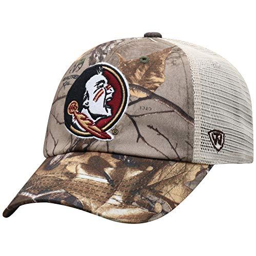 Top of the World NCAA Florida State Seminoles Men's Camo Stock Adjustable Mesh Icon Hat, Real Tree