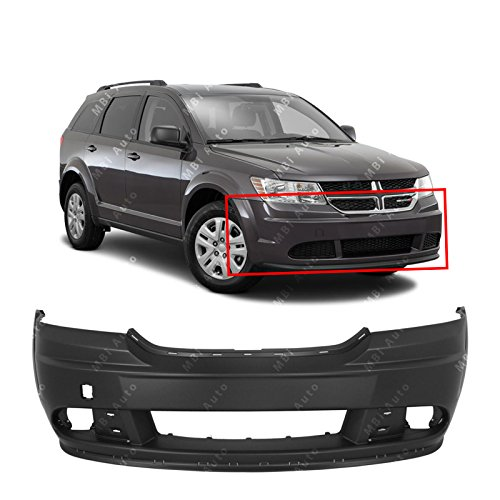 MBI AUTO - Primered, Front Bumper Cover Fascia for 2009-2015 Dodge Journey W/Tow 09-15, CH1000999