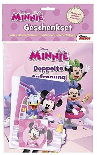 Disney Minnie Geschenkset: Buch, Geschenkpapier, Grußkarte, Geschenketikett