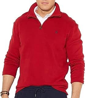 Men's Half Zip Pima Cotton Pony Logo Pullover Sweater