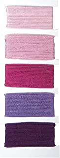 RAYHER 53564264Cotton Yarn Stitch & Knot, 5Farben je 10m in Blister Pack