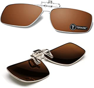 TERAISE Polarized Clip-on Sunglasses with Flip Up Function Suitable Driving Sports
