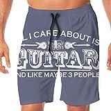 Guitarra eléctrica Rock Music Pantalones Cortos de Playa para Hombre Bañador de natación Pantalones Casuales de Gimnasio con Bolsillo