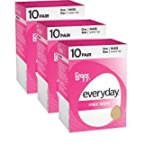 L'eggs Women`s Set of 3 L`eggs Everyday Knee Highs ST - Best-Seller! OneSize, Suntan(pack of 10)