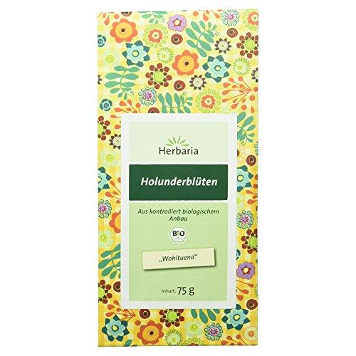 Herbaria Holunderblüten , 1er Pack (1 x 75 g Tüte) - Bio