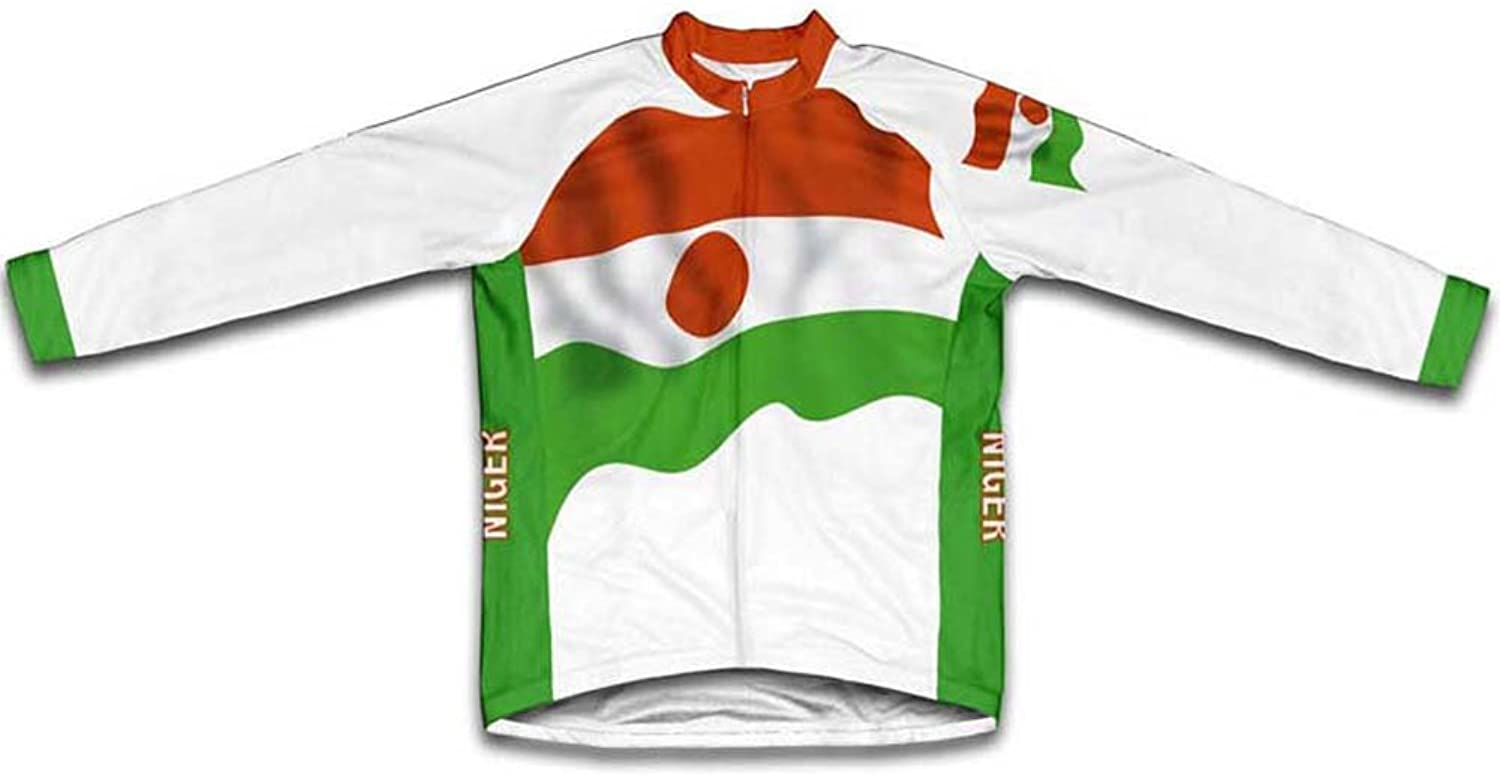Niger Flag Winter Thermal Cycling Jersey for Women