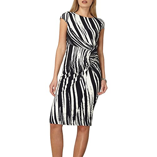 Dorothy Perkins Lily and Franc Abstract Strip Side Ruched Vestido, Multicolor (Multicoloured 220), 40 para Mujer
