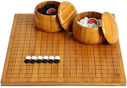 WJHCDDA Ajedrez magnetico GO Juego de Juegos, bambú de Doble Cara de ajedrez de ajedrez/Tablero de ajedrez Chino Solo Lado (Color : B)