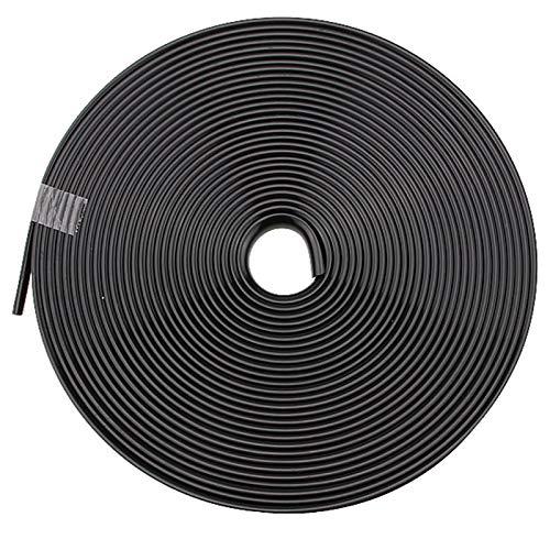 MOOLO Wheel Rim Edge Protector Ring Wheel Hub Stripe Automobile Decoration Line Rubber Strip Scratch Prevention(Color:Black)
