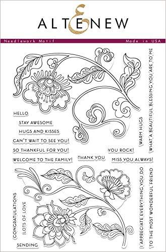 Altenew Clear Cling Stamp Set - Needlework Motif Flowers