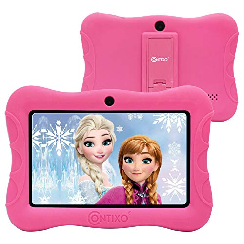 Contixo 7' Kids Tablet V9-3 Learning Toy Android 9.0 Parental Control Tablets 16GB Touchscreen HD Display WiFi Camera 20 Education Apps Best Gift (Pink)