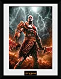GB Eye LTD, God of War, Kratos Lightening, Print Enmarcado, 30 x 40 cm