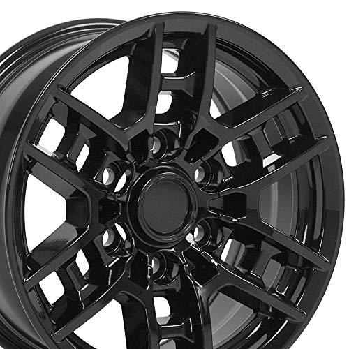 OE Wheels LLC 16 inch fits Toyota Tacoma TRD TY17 Gloss Black 16x7 Rims SET
