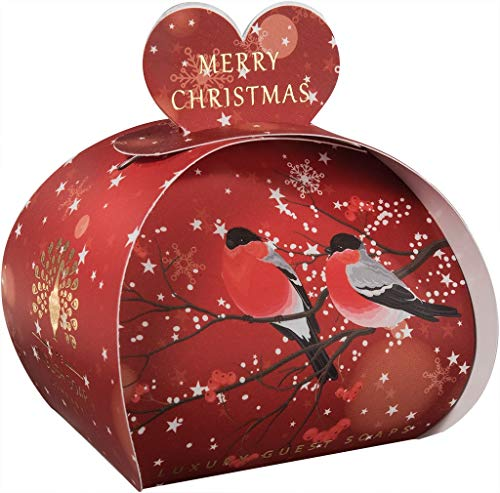 The English Soap Company, Luxury Packed Guest Soaps, Merry Christmas, 3x20g