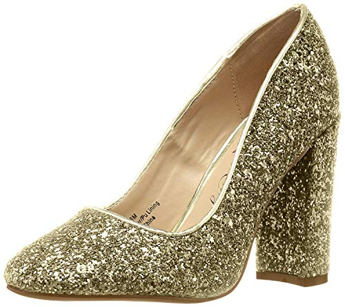 Penny Loves Kenny Damen Ritz, Gold/Glitzer, 38.5 EU