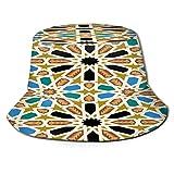 Sombrero de Pescador Unisex Morisco Fez Patrones Sin Fisuras Tradicional Marruecos Plegable De Sol/UV Gorra Protección para Playa Viaje Senderismo Camping