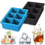JAHEMU Eiswürfelform Silikon Eiswürfelbehälter Quadrat Silikonform Ice Cube Tray Schokoladenform...