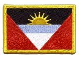 Flaggenfritze Flaggen Aufnäher Antigua & Barbuda Fahne Patch + gratis Aufkleber